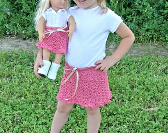 Ribbons & Lace Crochet Skirt Pattern