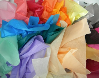 BULK Tissue Paper - 144 Gift Tissue Sheets - Pick Your Colors - 6 packs of 24 sheets - Party Decoration, Wrapping Paper Tissue - Packaging