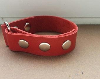Mens bracelet, mens cuff, leather cuff, leather bracelet, mens bangle, mens leather cuff,red cuff, red bracelet,wide mens cuff,red mens cuff