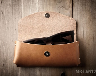 Leather Sunglasses Case, Leather Sunglass Case, Glasses Case, Leather Case, Leather Sunglass Cover 044