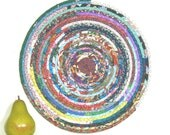 Round Placemat, Coiled Trivet, Fabric Hotpad, Lazy Susan Trivet, Coiled Plant Rug, Washable Plant Mat, Table Center Piece