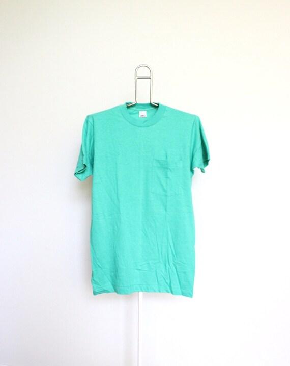 Soft Green Bvd Plain Pocket T Shirt Mens By Beachwolfvintage