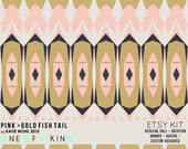Pink and Gold Fish Tail - ETSY KIT