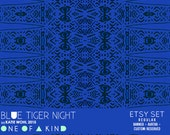 Blue Tiger Night - etsy set