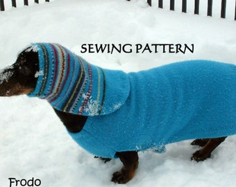 Sewing Pattern for Dachshund Sweaters Jumpers Snoods DIY pets clothing