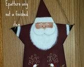 EPATTERN 0048 Star Santa wall hanging, decorative painting pattern, digital download, Christmas, reindeer,CIJ