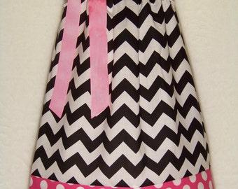 CHEVRON Pillowcase Dress / Disney / Pink / Black / Minnie Mouse / Sundress  / Newborn / Infant / Baby / Girl / Toddler / Custom Boutique