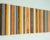 Wood Wall Art, Modern wood decor, reclaimed wood sculpture, Ready to Ship