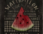 Watermelon Farm Market Sign, Printable download, 8x8