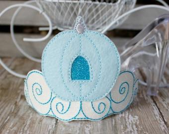 Cinderella Carriage Tiara - Glitter and Felt Dress Up Accessory