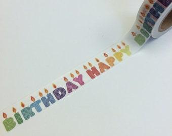 Happy Birthday Washi Tape (10M)