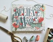 Believe In Magic Print - Roald Dahl quote - whimsical, colorful, encouraging,
