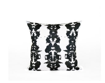 Ink Blot Decorative Pillow | Black and White  Pillow Cover | Black And White Throw PIllow