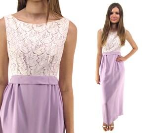 60s Lace Sheath Dress, Party, Cocktail, Evening Dress, Sheath Maxi Dress, 60s Prom Dress Δ size: md