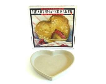 Stoneware Pie Plate Sassafras Superstone Pie Pan Heart Shaped
