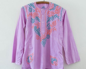 sale // embroidered tunic - M