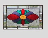 Victorian stained glass panel window design stained glass window panel window hanging stained glass art 0020