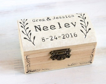 Ring Bearer Box Wedding Ring Box Customizable Ring Box Personalized Wedding Box Pillow Alternative Maid Of Honor Ring Holder