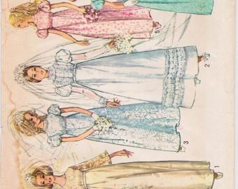 Simplicity 8589, Wedding Dress Sewing Pattern, 1960s, USA