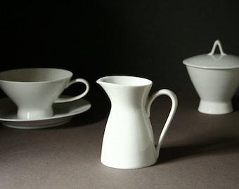 Classic Modern White porcelain creamer, Rosenthal, Germany.