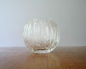 """Mid Century iittala """"Minora"""" Glass Vase Timo Sarpaneva"""