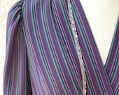 Colorful Vintage Pinstriped Dress