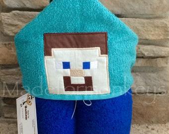 Block Man Hooded Towel