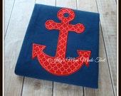 Red Anchor Shirt - Nautical - Of The Sea - Boy Version