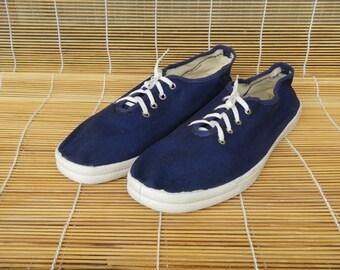 Vintage Blue Textile Sneakers Size EUR 40 / US Woman 9