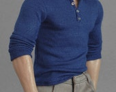 1/6th scale henley shirt for figures and dolls