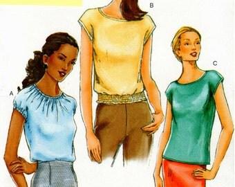 UNCUT Very Easy Vogue Pattern 7304 - Misses Easy Summer Blouses - 6-10