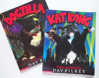 Vintage Kat Kong and Dogzilla Scholastic Books
