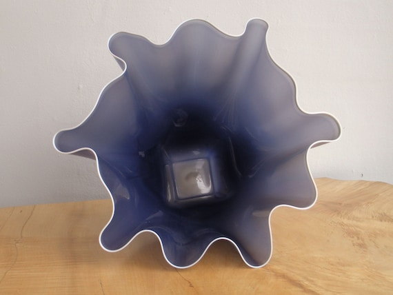 Hand Blown Glass Bowl - Opaque Lavender Shell Bowl Form by Jonathan Winfisky