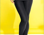 Womens Fold Over LEGGING 49.95 great 4 YOGA n Black, Denim,  Brown, Sapphire Blue or many colors FREE usa Shipping