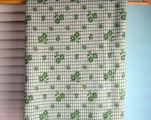 Shamrock Green Polyester Knit Fabric, Shamrock Fabric - Green Clover Fabric, Retro Polyester Knit, 1970's Polyester Double Knit