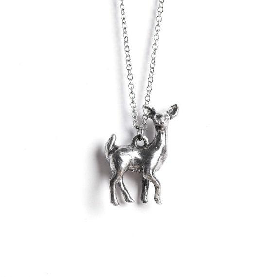 Deer Necklace, Gemini, Deer Totem, May / June Birthday