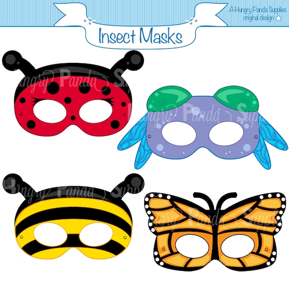 Insects Printable Masks Insect Ladybug Mask Bee