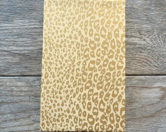 Gold Cheetah Wrapping Paper, 20 Square Feet - Feminine Wrapping Paper - Animal Print Gift Wrap - Leopard Wrapping Paper - Gold Gift Wrap