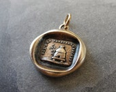 Beehive wax seal charm - Protect Secrets - antique wax seal jewelry with bees and hive