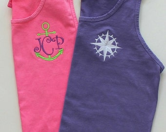 Monogram Tank Top Comfort Colors Swim Suit Cover Beach Wedding Party Gifts Custom Embroidery