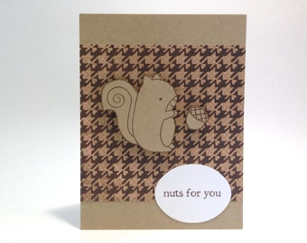 Funny Boyfriend Birthday Card - Anniversary Card for Him - Nuts Pun Card - Valentine's Day Card - Love Card - Card for Him - I Love You Card
