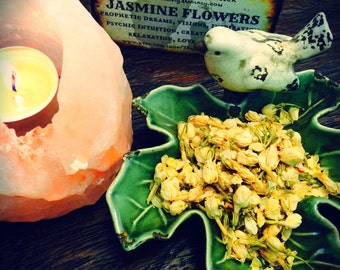JASMINE FLOWERS Dried Whole Buds, Edible Herb, Loose Herbal Tea, Witches Herb Apothecary, Soap Supply Herb