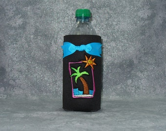 Bottle, Beverage Holder, Tropical, Water Bottle Cozy