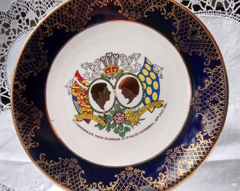 Weatherby China Commemorative Plate /Charles and Diana