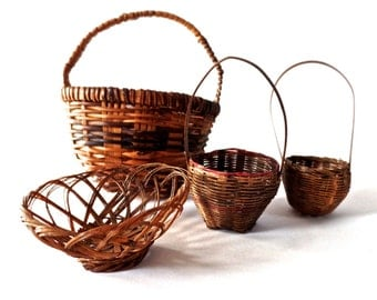American Early Tiny Baskets LOT