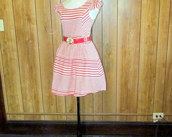 On Sale-Adorable FULL Skirted STRIPED NAUTICAL Dress