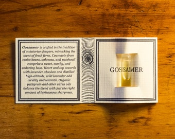 GOSSAMER - Natural Botanical Fragrance Sample - 0.5ml