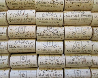 Natural Wine Corks Marimar Estate Winery  Lot of 50 UNUSED Sonoma County California Real Cork