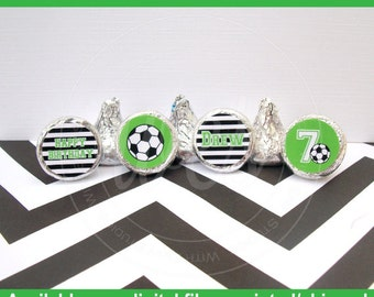 Soccer Chocolate Kiss Stickers - Soccer Stickers - Sports Stickers - Sports Candy Kiss Sticker - DIGITAL and PRINTED