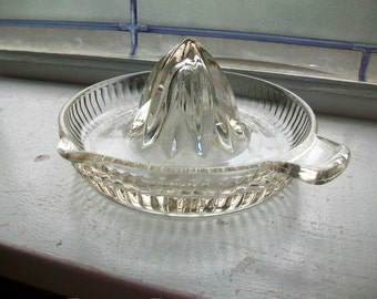 Vintage Glass Reamer Juicer Tab Handle